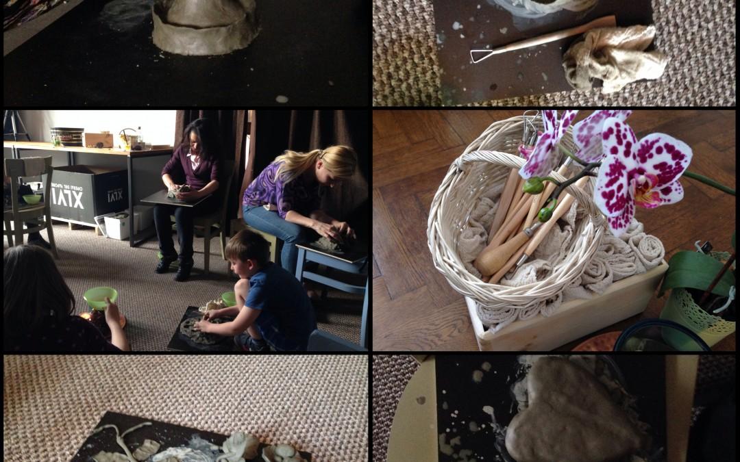Grup de studiu -experimentarea materialelor artistice